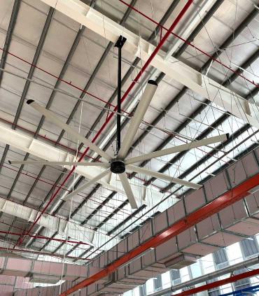Quạt trần nhà xưởng, sản xuất