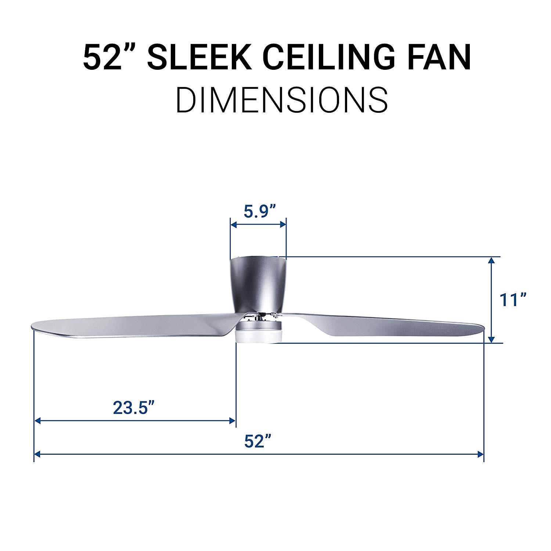 kích thước quạt trần AVIA DC LED