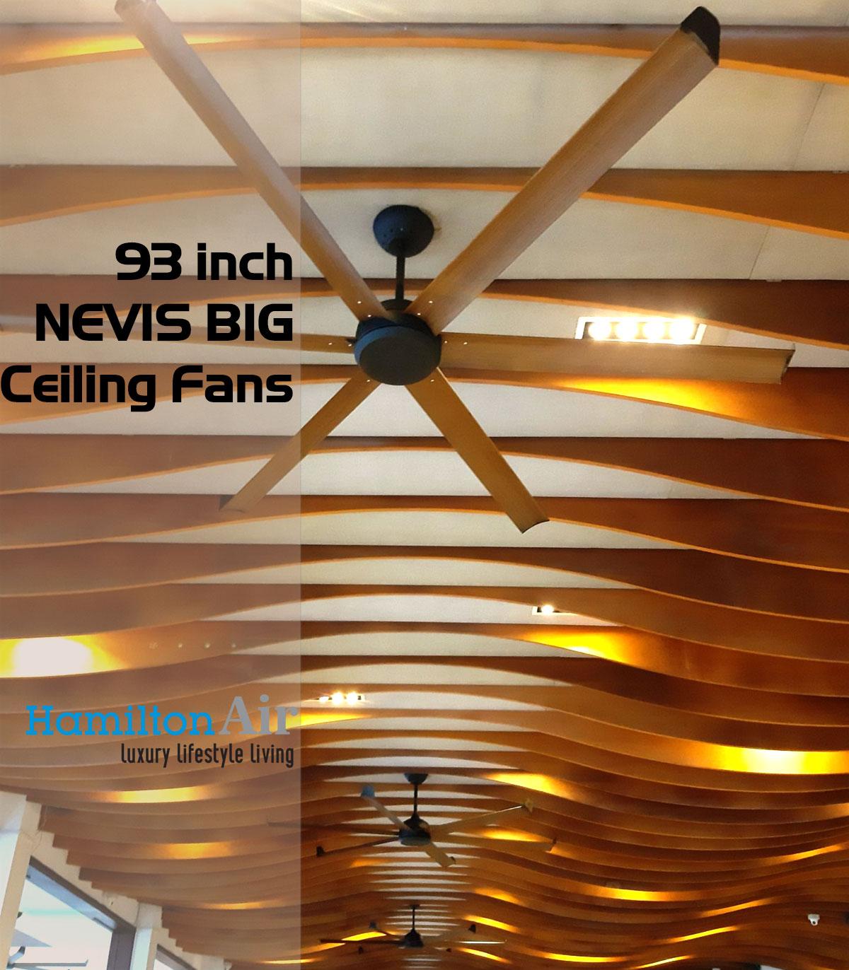 quạt trần nhà hàng resort The Cliff Phan Thiết