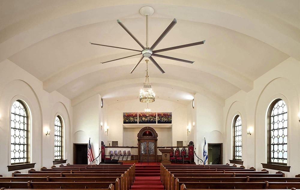 quạt trần essence lắp đặt ở nhà thờ