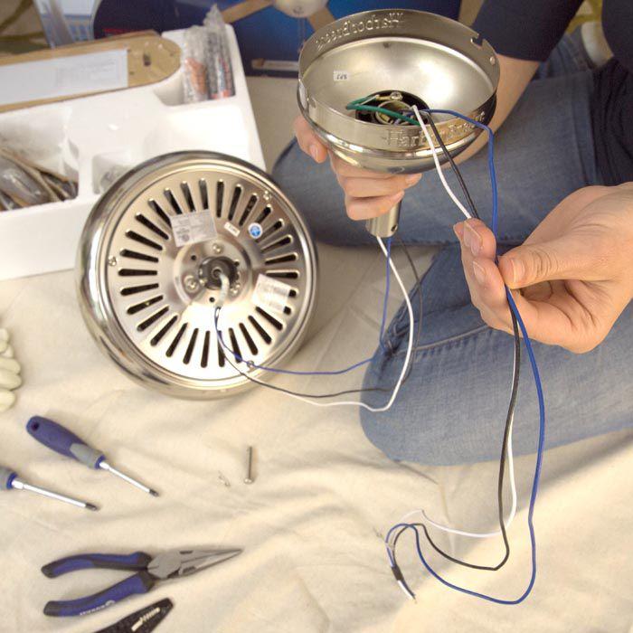 Cách lắp đặt hệ thống dây điện cho quạt trần