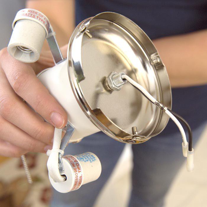 Cách lắp đặt đèn quạt trần
