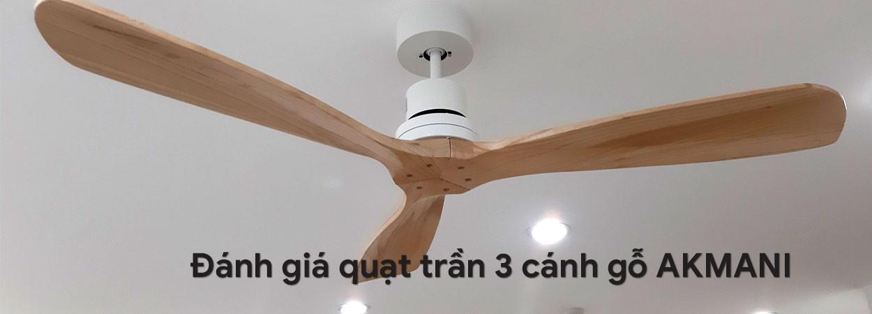 Đánh giá quạt trần cánh gỗ AKMANI thiết kế dành cho căn hộ, khách sạn hạng sang