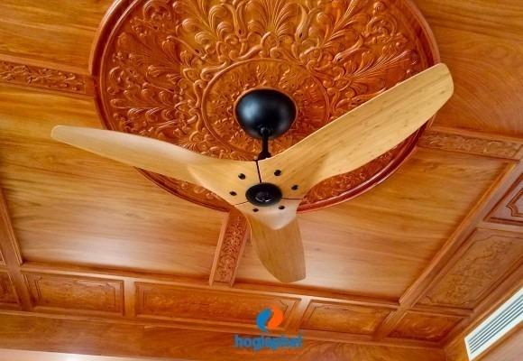 Lắp đặt quạt trần Haiku Home - quạt trần thông minh cao cấp cánh Bamboo Caramel