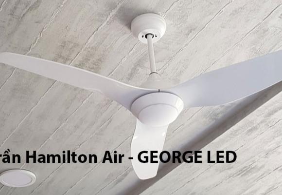 Quạt trần DC GEORGE LED - lắp đặt nhà khách tại chung cư Vinhome Tân Cảng