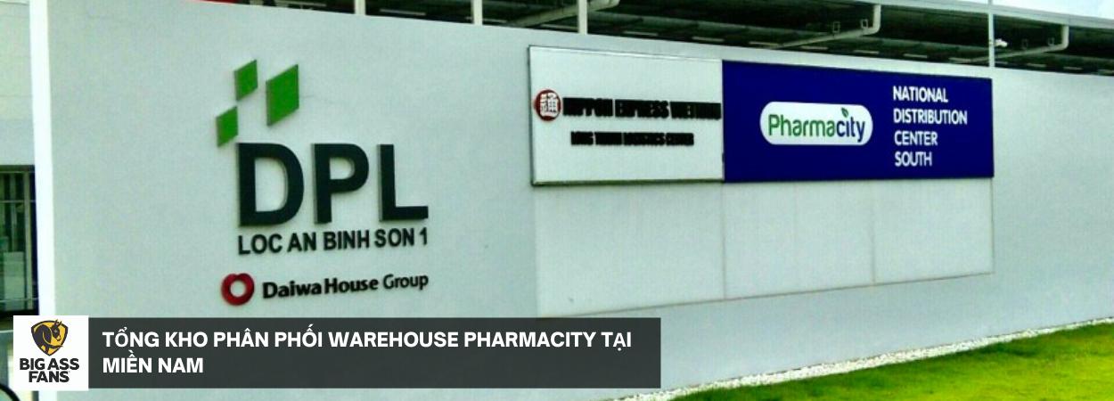 Tổng kho phân phối warehouse PharmaCity tại Miền Nam