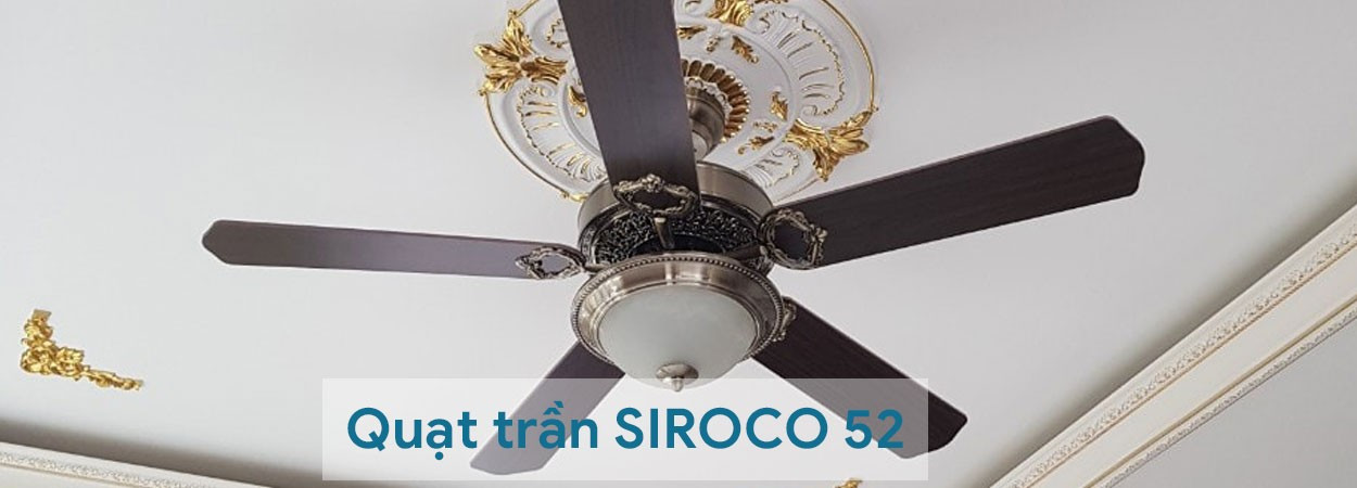 Lắp đặt quạt trần SIROCO đèn LED 52YFT-1053 nhà anh THUẬN quận Tân Bình, HCM